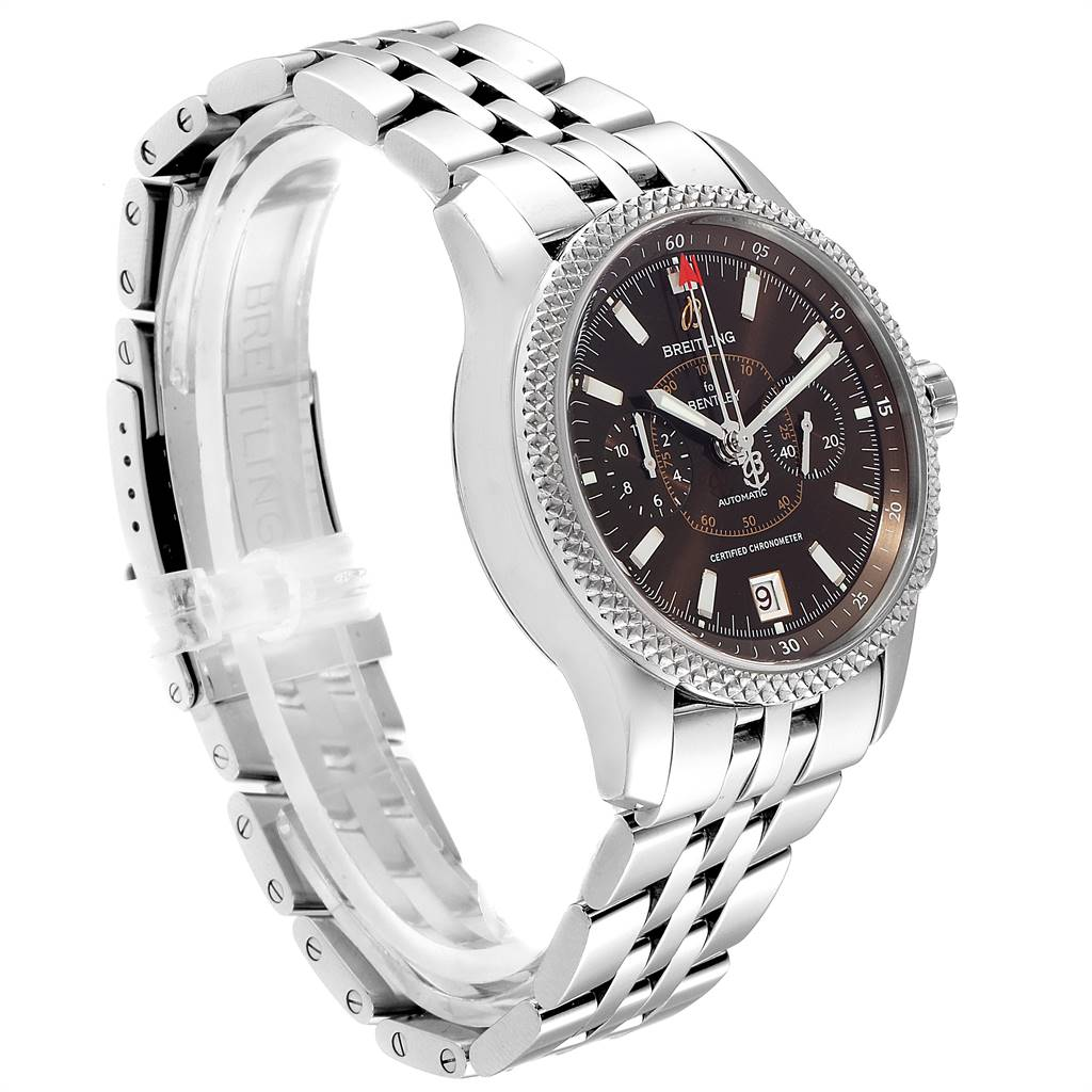Breitling Bentley Mark VI Special Edition Platinum Steel Mens Watch P26362 SwissWatchExpo