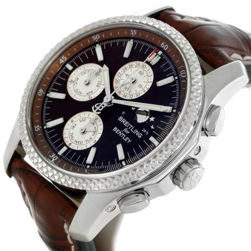 9221 Breitling Bentley Mark VI Complications Steel Platinum Watch P19362 SwissWatchExpo