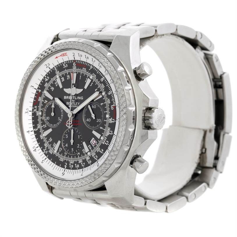 9281 Breitling Bentley Motors Chronograph Grey Dial Mens Watch A25362 SwissWatchExpo