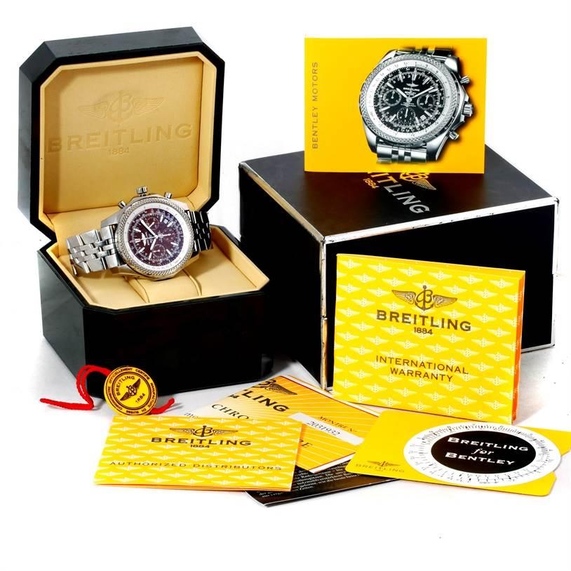 Breitling Bentley Motors Chronograph Bronze Dial Mens Watch A25362 SwissWatchExpo