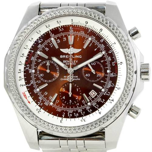 Photo of Breitling Bentley Motors Chronograph Bronze Dial Mens Watch A25362