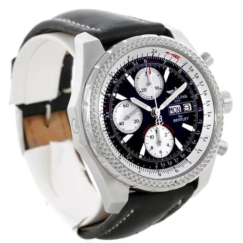 Breitling Bentley Motors GT Black Dial Steel Mens Watch A13362 SwissWatchExpo