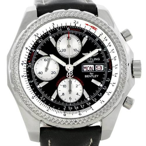 Photo of Breitling Bentley Motors GT Black Dial Steel Mens Watch A13362