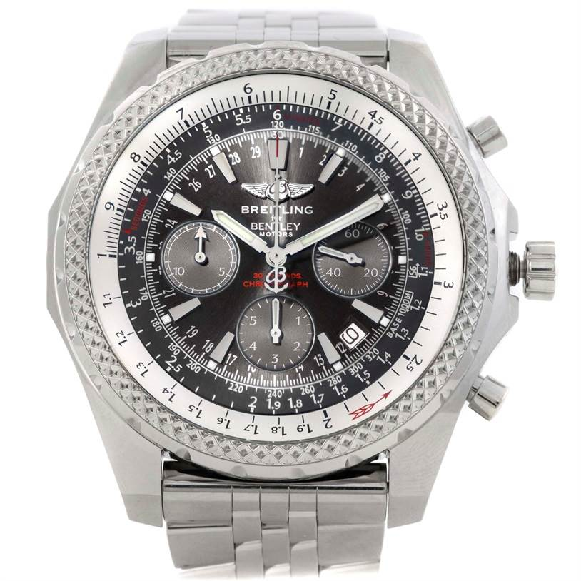 9565 Breitling Bentley Motors Chronograph Grey Dial Mens Watch A25362 SwissWatchExpo