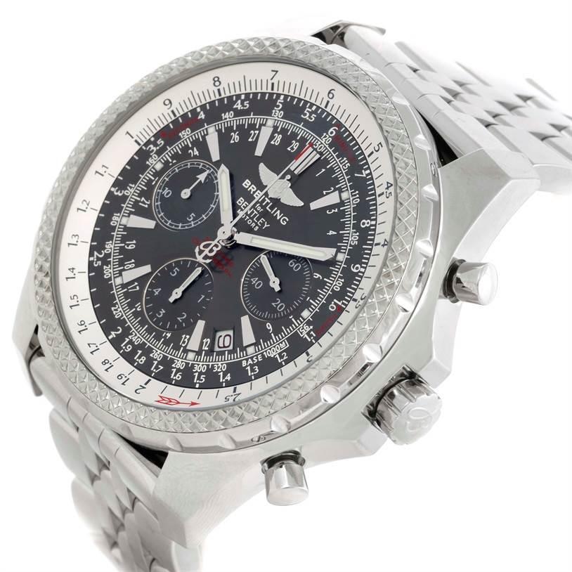 Breitling Bentley Motors Chronograph Grey Dial Mens Watch A25362 SwissWatchExpo