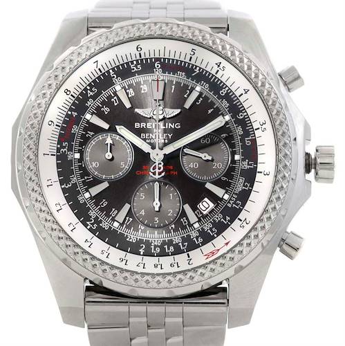 Photo of Breitling Bentley Motors Chronograph Grey Dial Mens Watch A25362