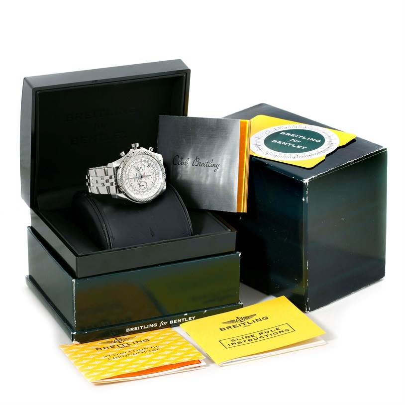 Breitling Bentley Motors Chronograph White Dial Mens Watch A25362 SwissWatchExpo