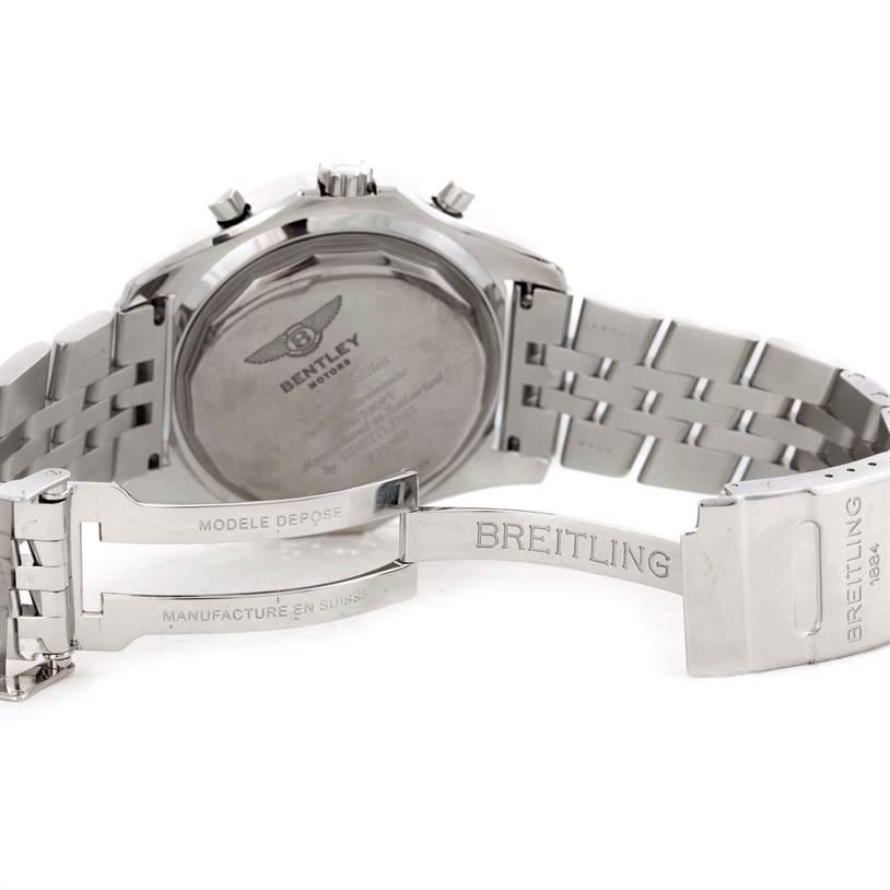 9824 Breitling Bentley Motors Chronograph White Dial Mens Watch A25362 SwissWatchExpo