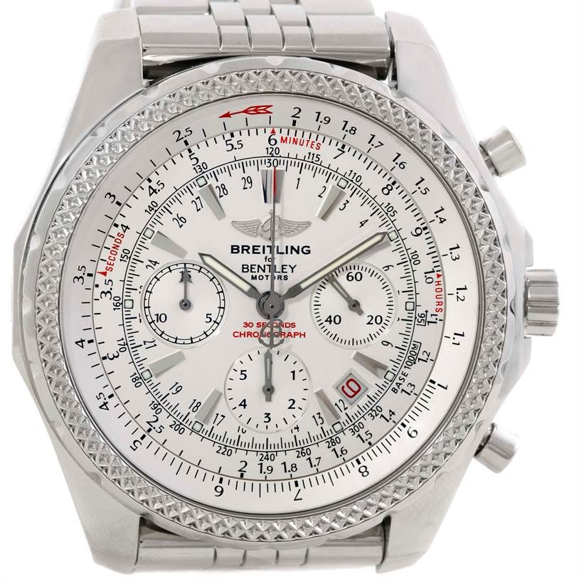breitling bentley motors chronograph white mens