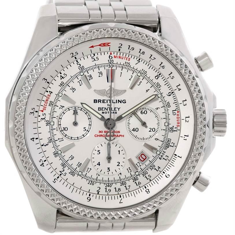 Breitling bentley motors chronograph white dial mens watch for Breitling for bentley motors watch price