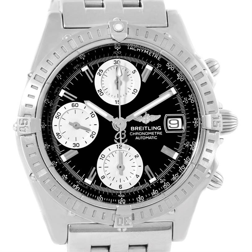 10081 Breitling Chronomat Automatic Stainless Steel Mens Watch A13352 SwissWatchExpo