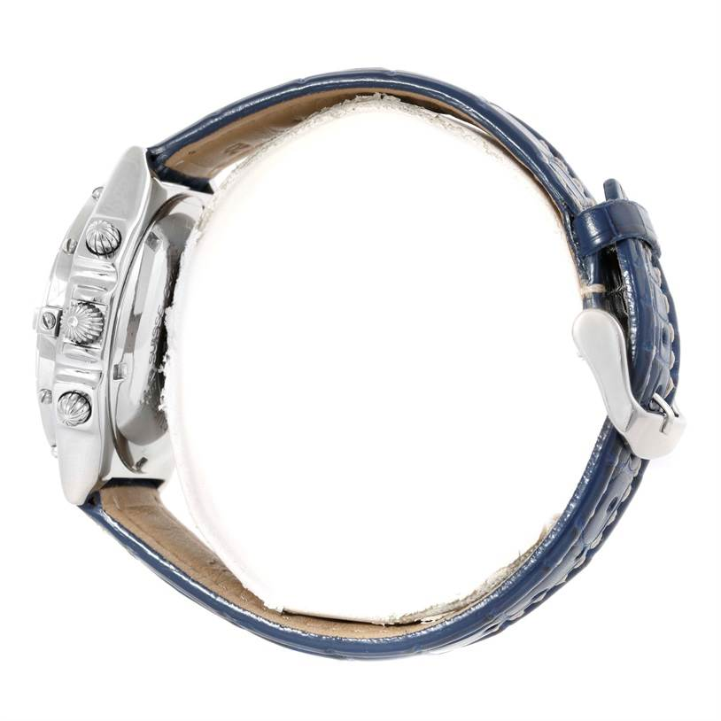 Breitling Chronomat Blackbird Blue Dial Mens Watch A13340 SwissWatchExpo