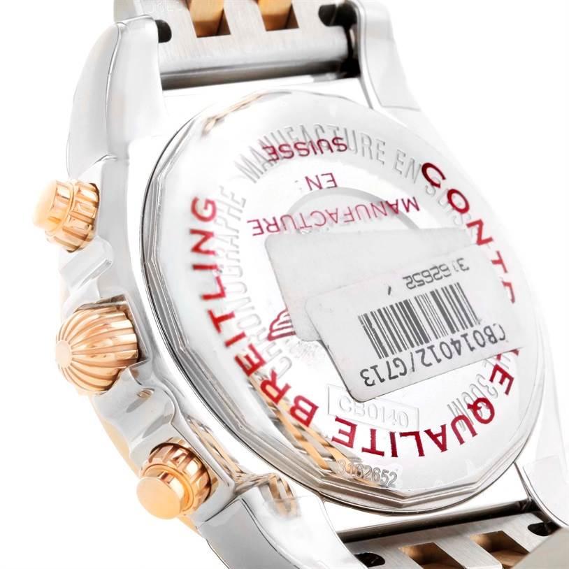10499 Breitling Chronomat 41 Chrono Steel Rose Gold Watch CB014012 Unworn SwissWatchExpo
