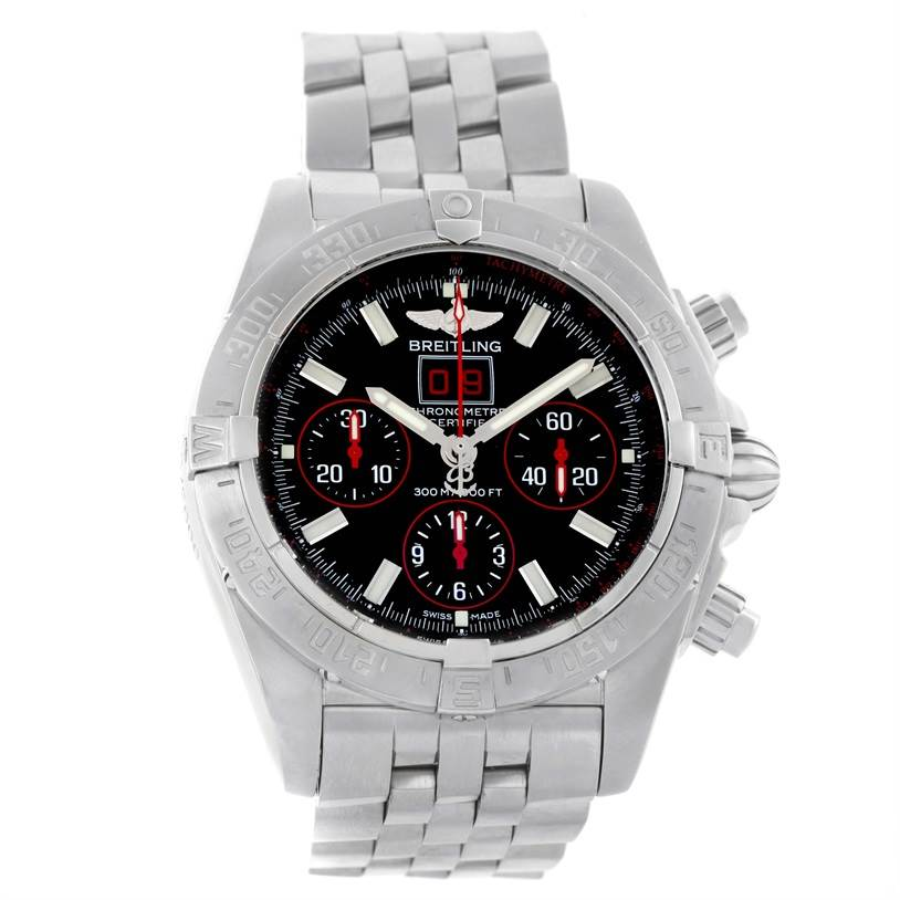 11559 Breitling Chronomat Blackbird Red Strike Limited Mens Watch A44359 SwissWatchExpo