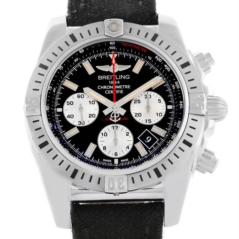11533 Breitling Chronomat 44 Airborn Anniversary Chronograph Watch AB0115 SwissWatchExpo
