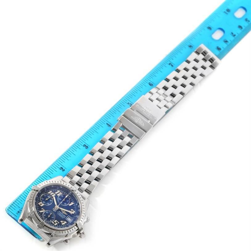 Breitling Chronomat Blackbird Blue Dial Mens Watch A13350 SwissWatchExpo