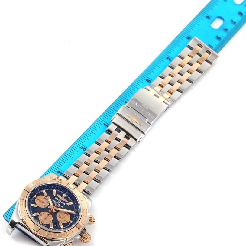 Breitling Chronomat Evolution Steel Rose Gold Black Dial Watch CB0110 SwissWatchExpo