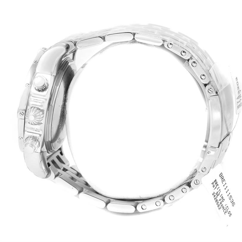 13225 Breitling Chronomat 01 Blue Dial Steel Mens Watch AB0110 Unworn SwissWatchExpo