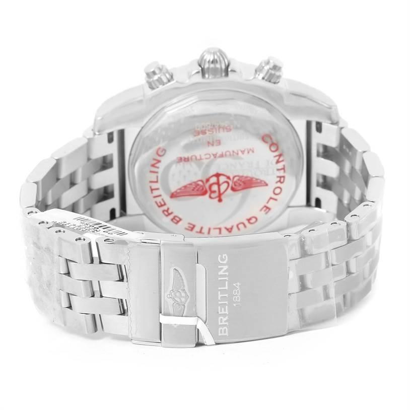Breitling Chronomat 01 Blue Dial Steel Mens Watch AB0110 Unworn SwissWatchExpo