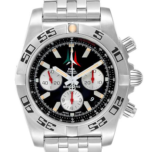 Photo of Breitling Chronomat 01 Black Dial Steel Mens Watch AB0110 Unworn