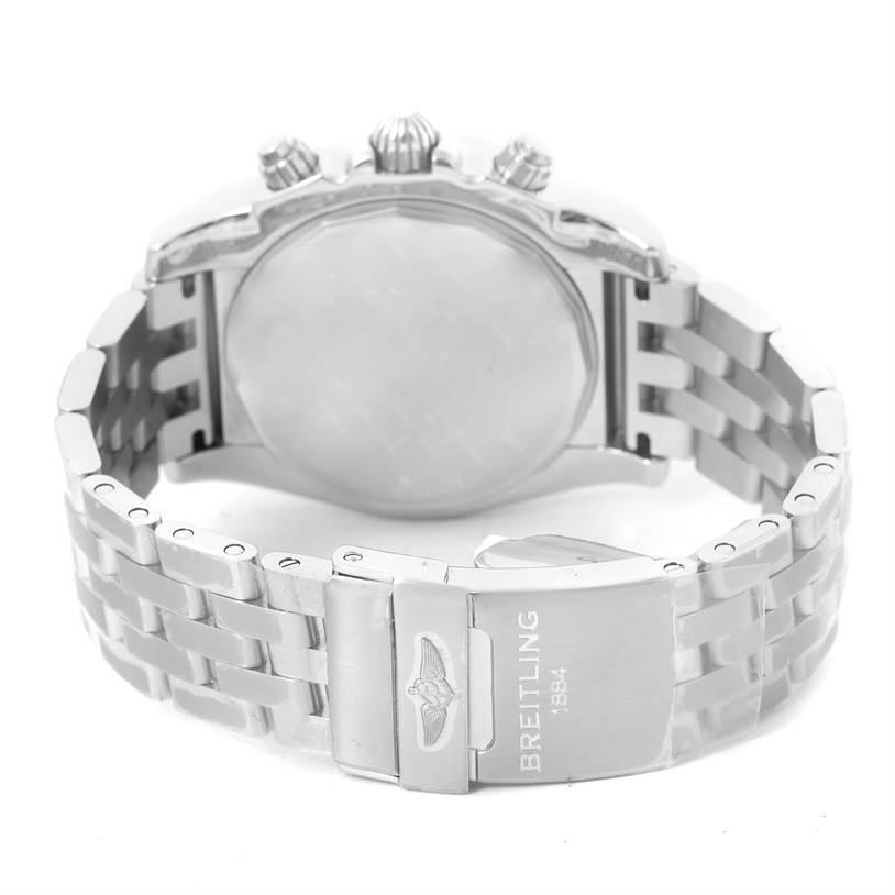 13226 Breitling Chronomat 01 Black Dial Steel Mens Watch AB0110 Unworn SwissWatchExpo
