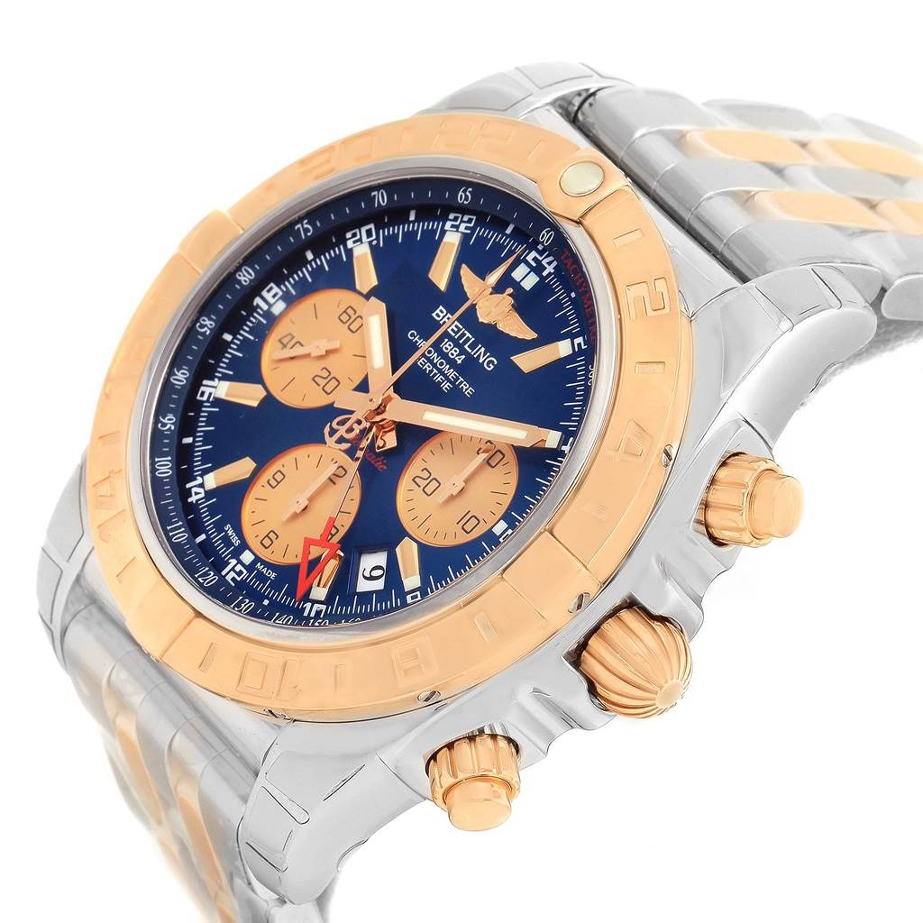 Breitling Chronomat GMT Chrono Steel Rose Gold Watch CB042012 Unworn SwissWatchExpo