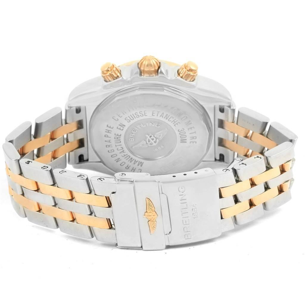 13898 Breitling Chronomat Evolution Steel Rose Gold Diamond Watch C13356 SwissWatchExpo