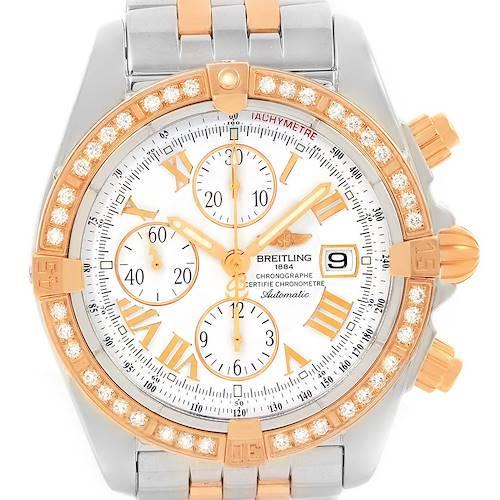Photo of Breitling Chronomat Evolution Steel Rose Gold Diamond Watch C13356