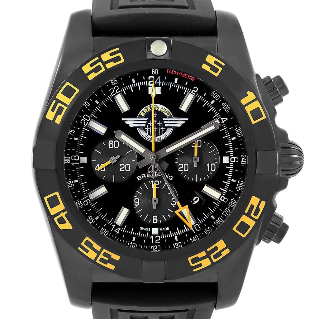 17475 Breitling Chronomat Jet Team American Tour PVD LE Watch MB0410 Unworn SwissWatchExpo