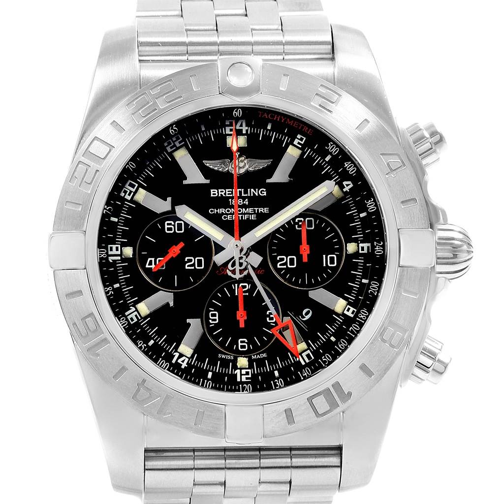 5311X Breitling Chronomat GMT Black Dial Limited Edition Mens Watch AB0412 SwissWatchExpo