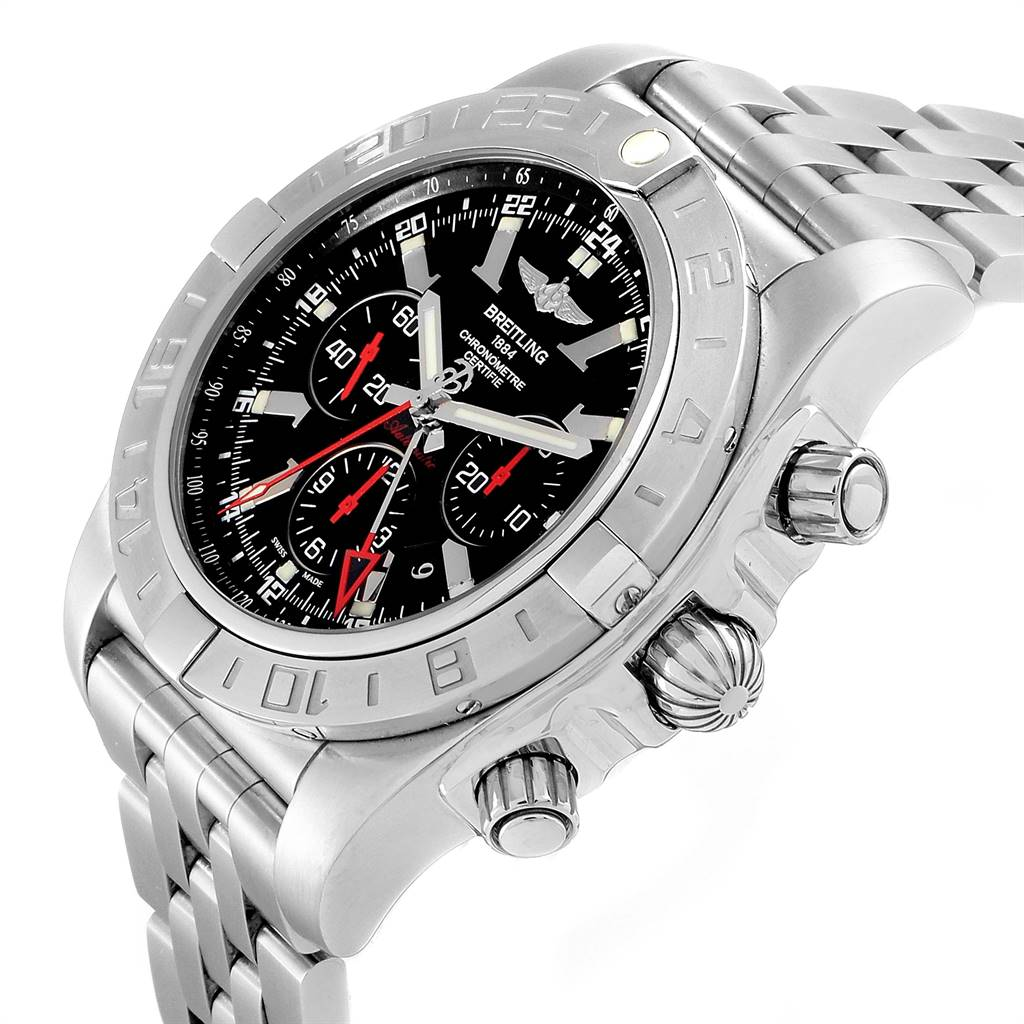 Breitling Chronomat GMT Black Dial Limited Edition Mens Watch AB0412 SwissWatchExpo