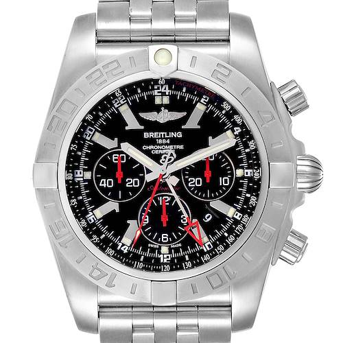 Photo of Breitling Chronomat GMT Black Dial Limited Edition Mens Watch AB0412