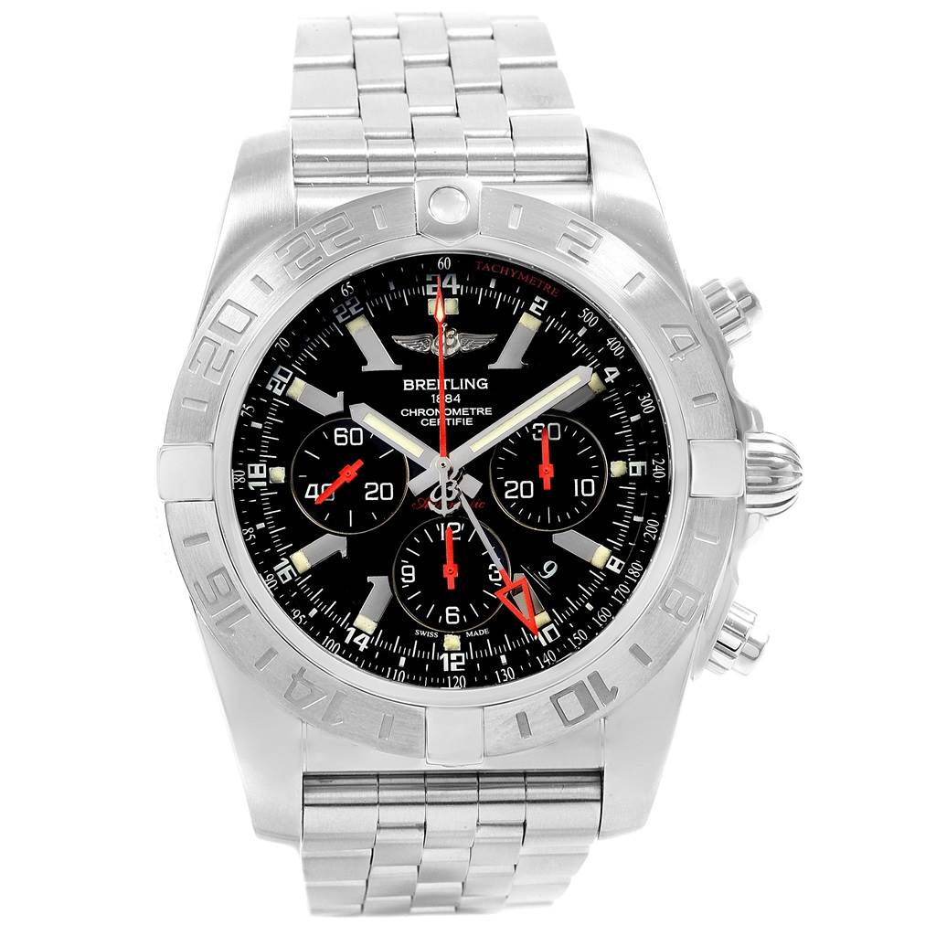 18808 Breitling Chronomat GMT Black Dial Limited Edition Mens Watch AB0412 SwissWatchExpo