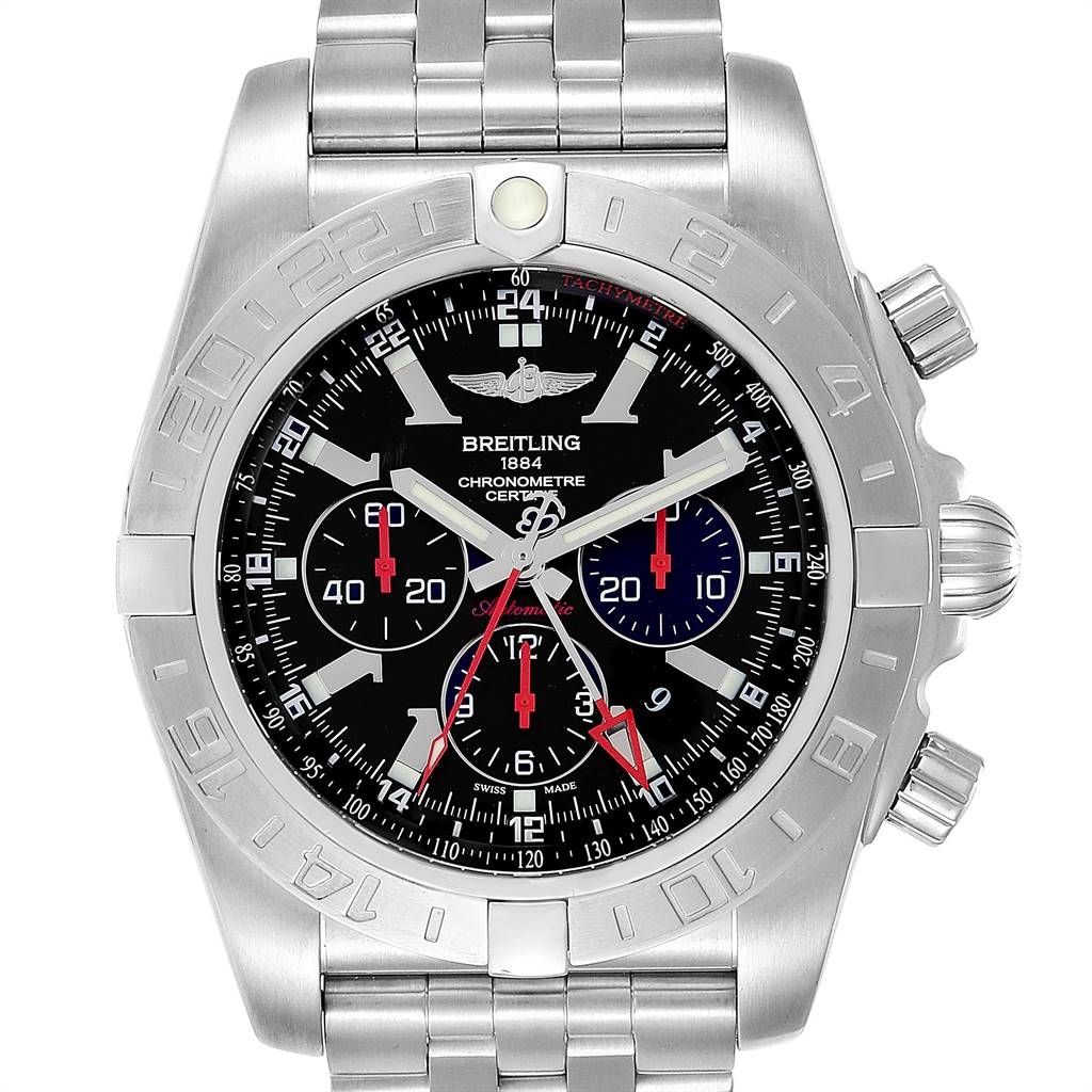 Breitling Chronomat GMT Limited Edition Mens Watch AB0412 Box Papers SwissWatchExpo