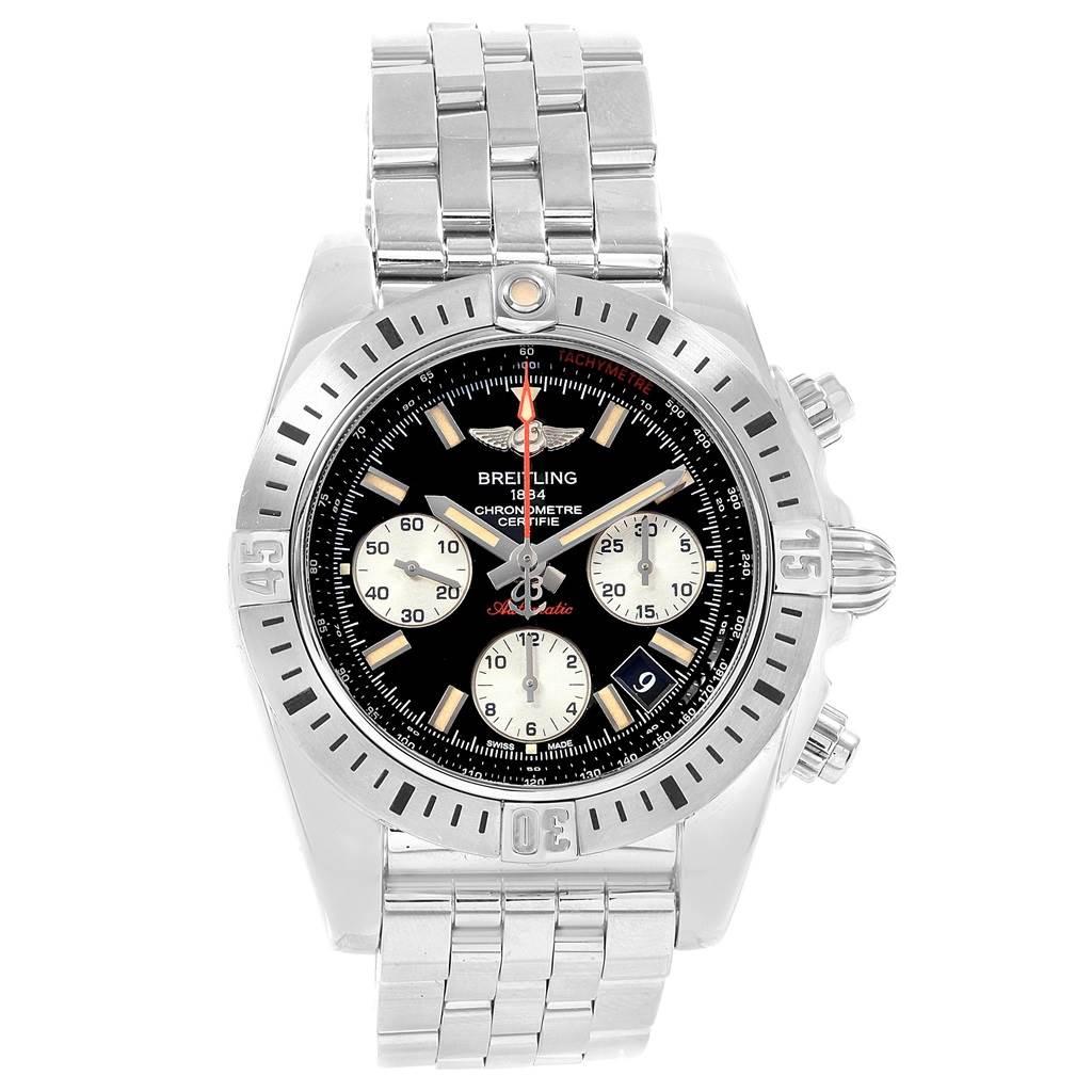Breitling Chronomat 41 Airborne Chronograph Steel Watch AB0114 SwissWatchExpo