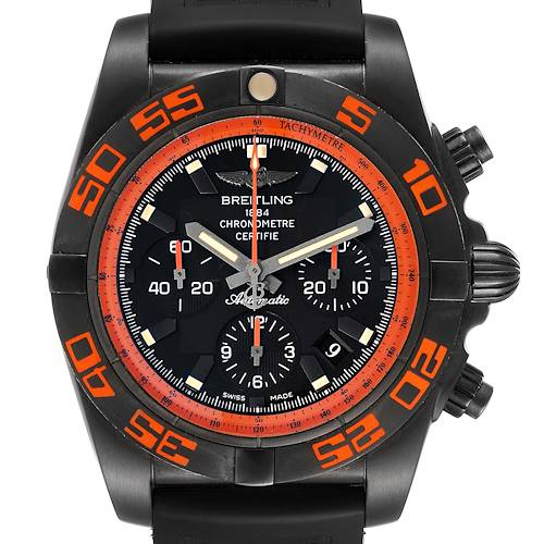 Photo of Breitling Chronomat Raven Blacksteel Watch MB0111 Box Papers