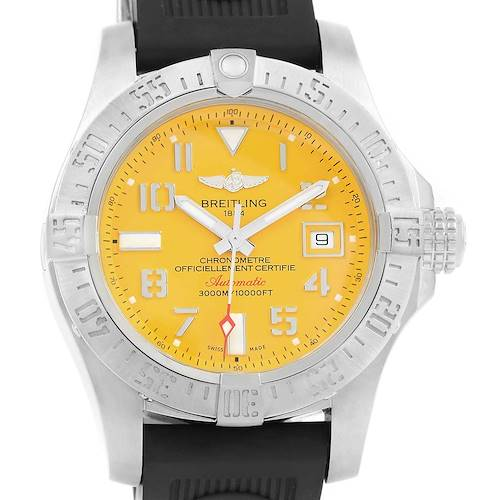 Photo of Breitling Avenger II Seawolf Rubber Strap Watch A17331 Mens Box Papers