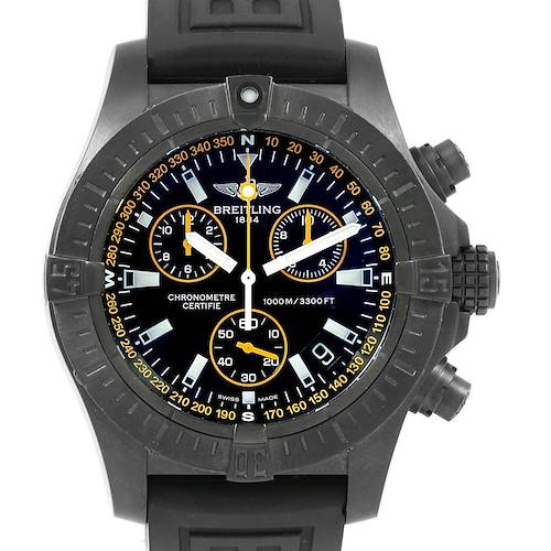 Photo of Breitling Avenger Seawolf Blacksteel Chrono Yellow Hands Watch M73390