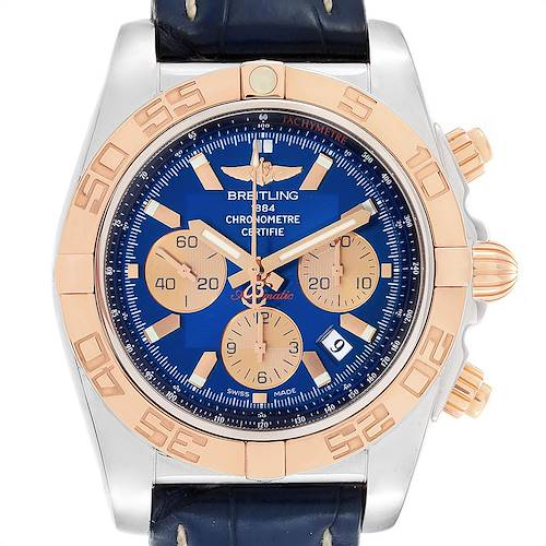 Photo of Breitling Chronomat Evolution Steel Rose Gold Black Dial Watch CB0110