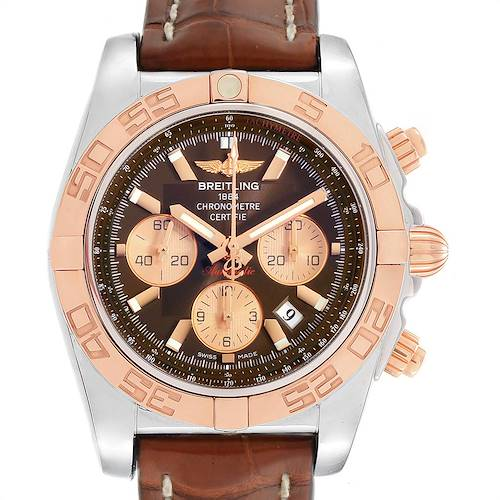 Photo of Breitling Chronomat Evolution Steel Rose Gold Brown Dial Watch CB0110
