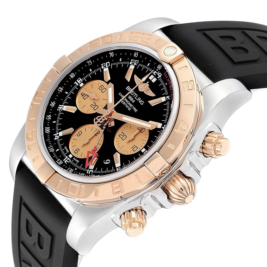 24775 Breitling Chronomat Evolution 44 GMT Steel Rose Gold Mens Watch CB0420 SwissWatchExpo