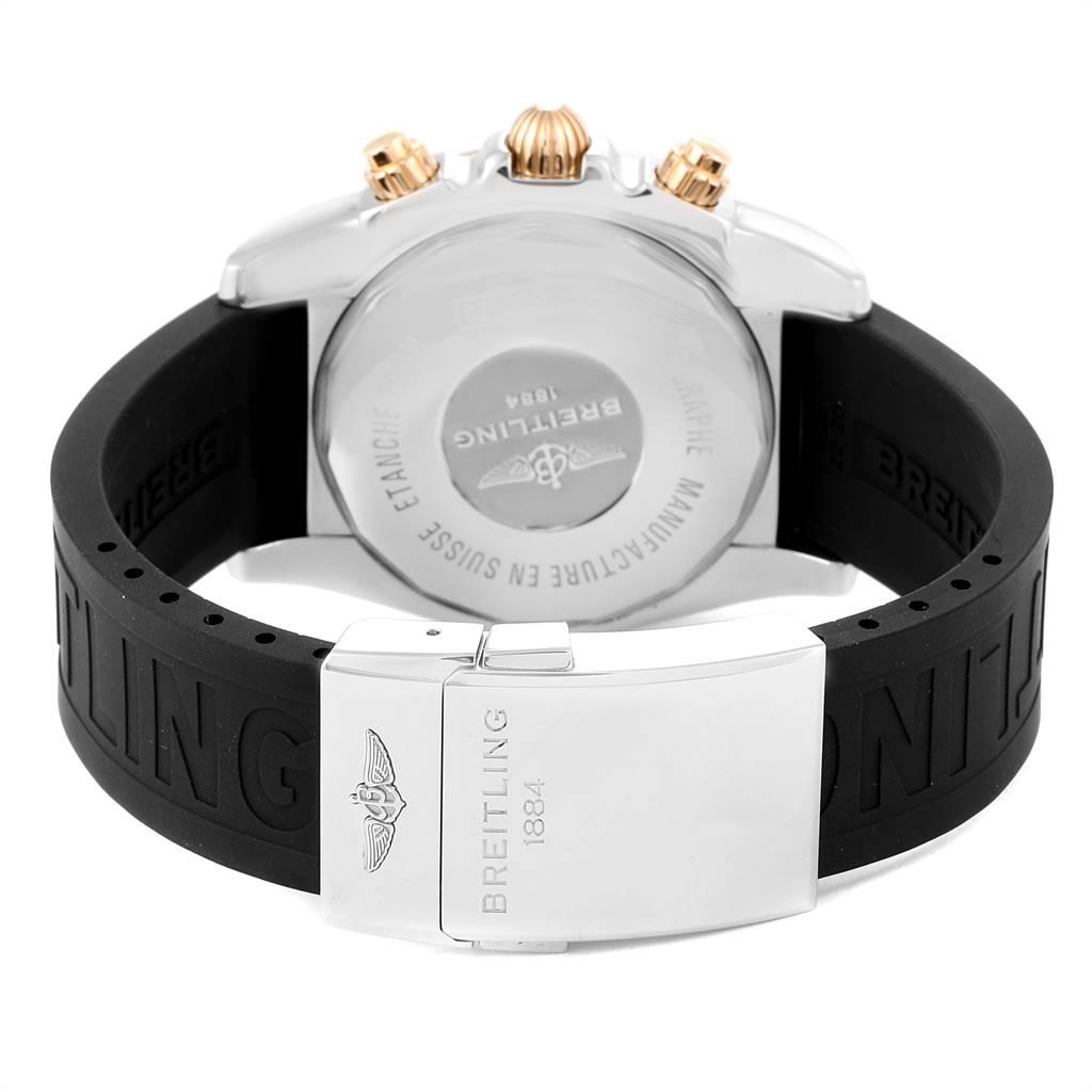 Breitling Chronomat Evolution 44 GMT Steel Rose Gold Mens Watch CB0420 SwissWatchExpo