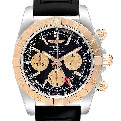 Photo of Breitling Chronomat Evolution 44 GMT Steel Rose Gold Mens Watch CB0420
