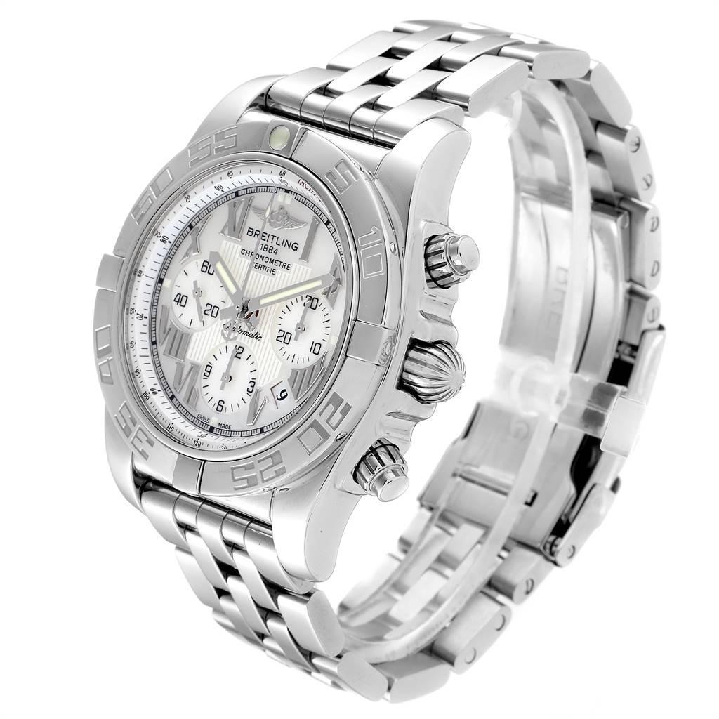 25132 Breitling Chronomat 01 MOP Dial Steel Mens Watch AB0110 Box SwissWatchExpo