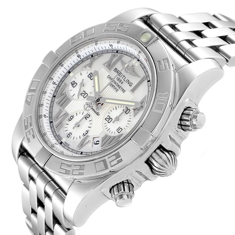 Breitling Chronomat 01 MOP Dial Steel Mens Watch AB0110 Box SwissWatchExpo