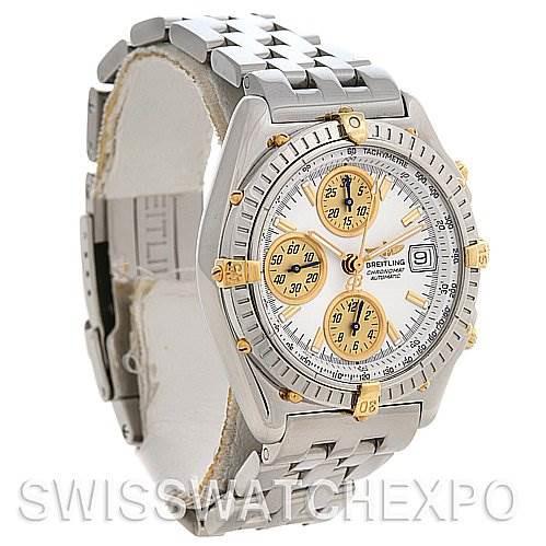 Breitling  Chronomat SS 18K Yellow Gold Watch B13050.1 SwissWatchExpo