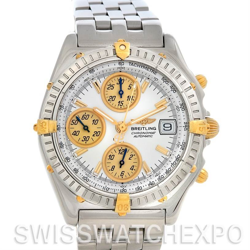 2656 Breitling  Chronomat SS 18K Yellow Gold Watch B13050.1 SwissWatchExpo