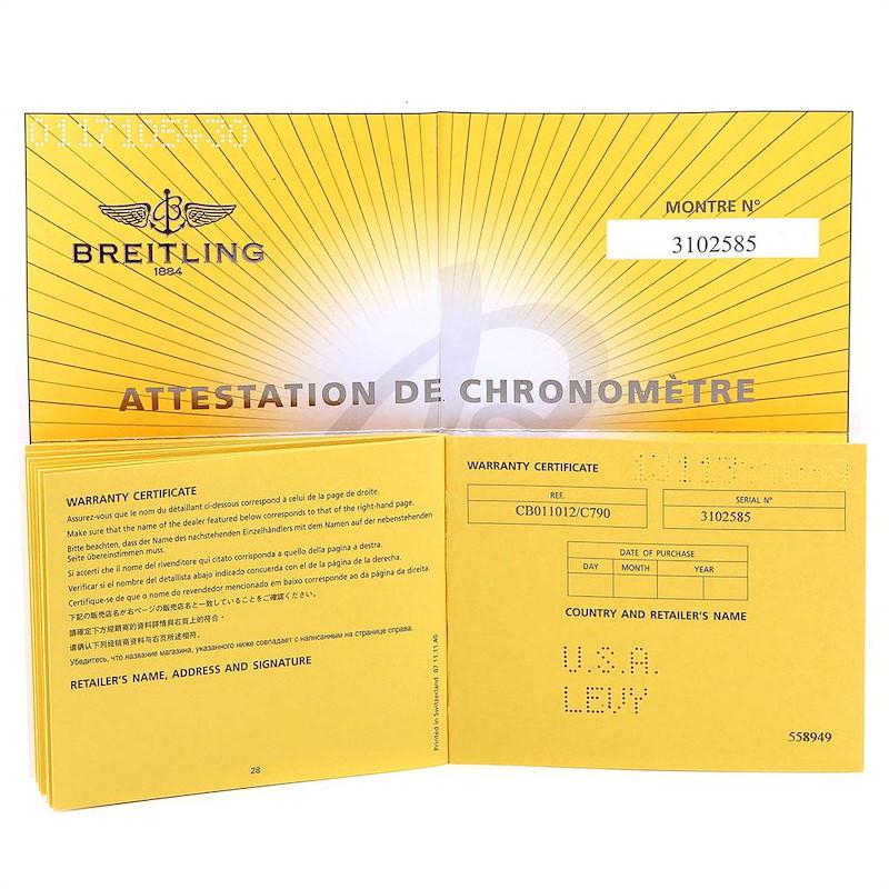 Breitling Chronomat Evolution Steel Rose Gold Mens Watch CB0110 Box Card SwissWatchExpo
