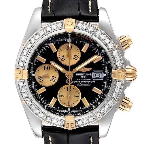Photo of Breitling Chronomat Steel 18K Yellow Gold Diamond Mens Watch B13356