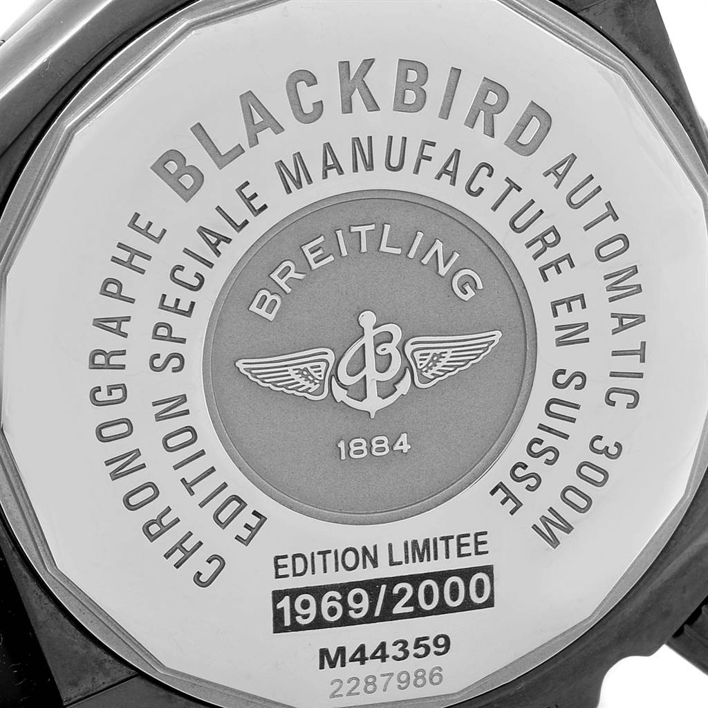 Breitling Chronomat Blackbird Blacksteel Limited Edition Watch M44359 SwissWatchExpo